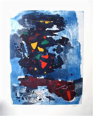M. Ardon Original ETCHING-AQUATINT Israeli Art