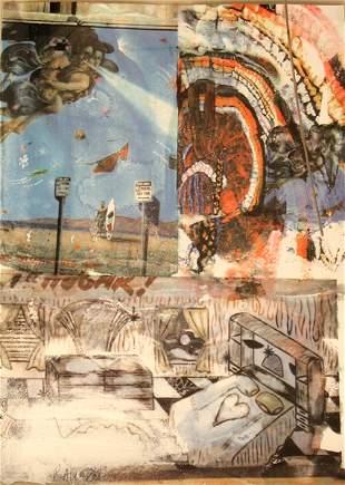 Robert Rauschenberg S&N Color Screenprint American