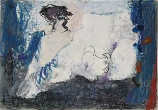 J. Neustein Original PASTEL Painting Israeli Art