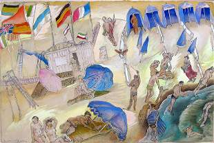 Moreno Pincas Original PAINTING Israeli Art