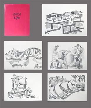 Avraham Ofek S&N 10 LITHOGRAPHS Portfolio