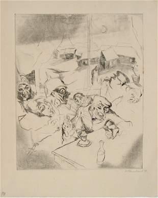 Jacob Steinhardt Original RARE ETCHING Jewish Art