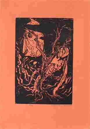 Jacob Steinhardt RARE Woodcut Jewish Art