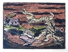672: Jacob Steinhardt Original RARE Woodcut Jewish Art