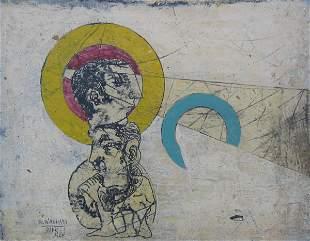 Rafael Wachash Original PAINTING Israeli Art