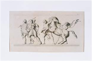 Antique ENGRAVING - Roman Theme
