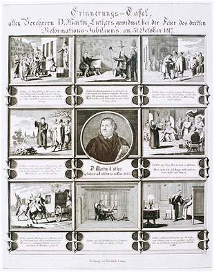 Antique ENGRAVING - Martin Luther