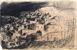 Fima Original charcoal DRAWING Israeli/Chinese