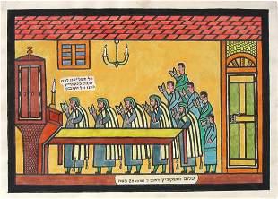 Shalom of Safed RARE Painting Biblical Art