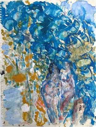 Yankel Jacques Kikoine Original GOUACHE Painting