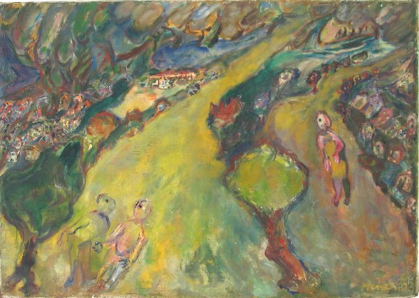 7007: David Messer Original Oil PAINTING Israeli Art
