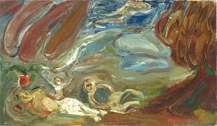 David Messer Original Oil PAINTING Israeli Art