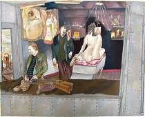 7073 Moreno Pincas Original Pastel Painting