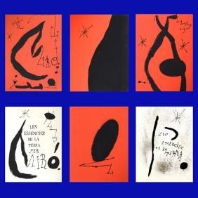 8000: Joan Miro Original SIGNED Lithographs Portfolio