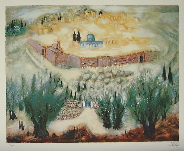 8008: Reuven Rubin Signed and No. LITHO Jerusalem