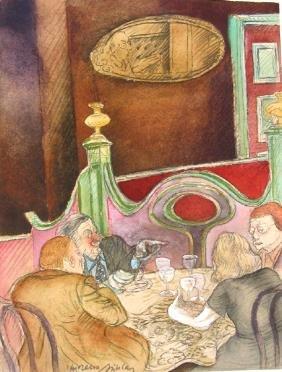 8009: Moreno Pincas Original Watercolor PAINTING