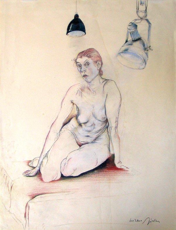 8017: Moreno Pincas Original DRAWING Israeli Art