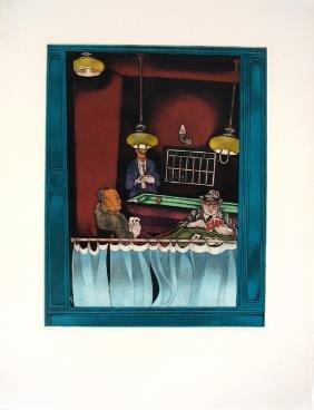 8019: Moreno Pincas Original S&N ETCHING Israeli Art