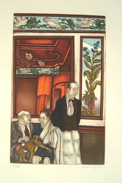 8020: Moreno Pincas Original S&N ETCHING Israeli Art