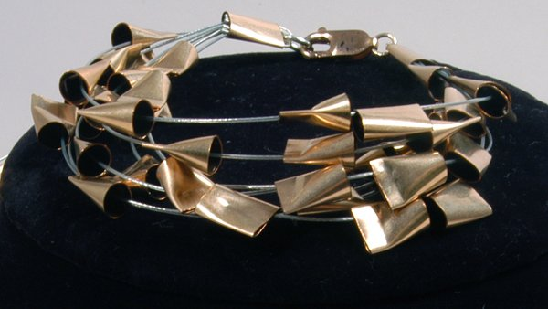 9005: Steel Cables Bracelet - by by Shaily Kirstain