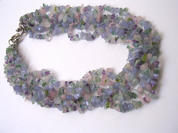 9007: Necklace of Semi Precious stones by M.Maisler