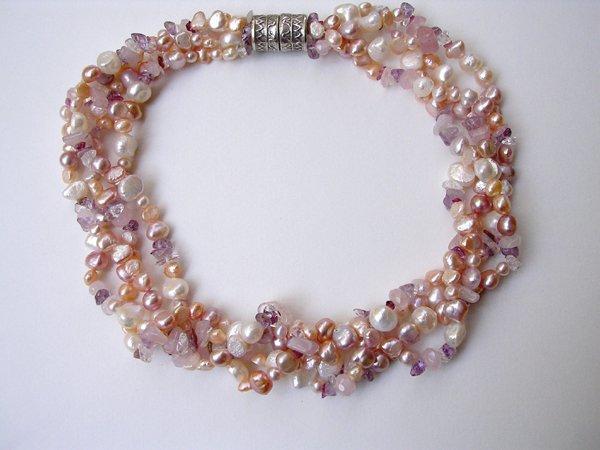 9012: Necklace of Semi Preciousstones by Meira Maisler