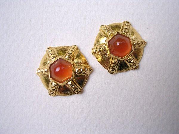9016: Gold Plated Earrings by Meira Maisler
