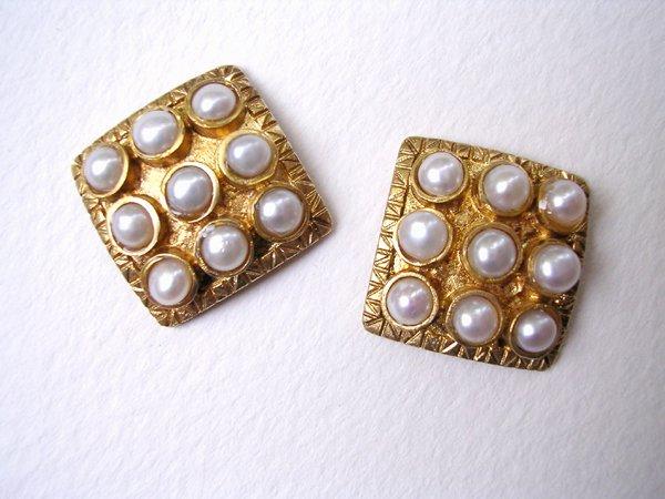 9017: Gold Plated Earrings by Meira Maisler