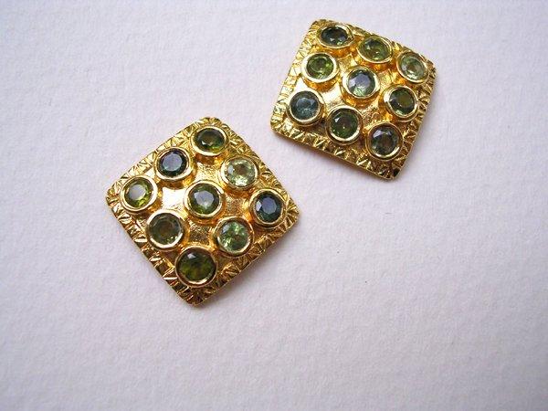 9019: Gold Plated Earrings by Meira Maisler