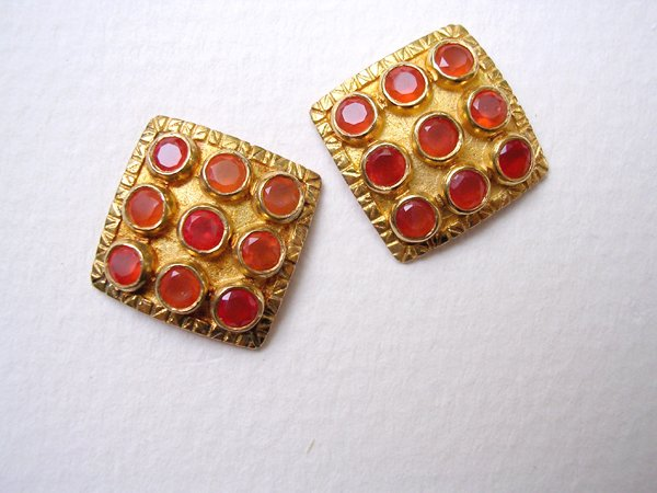 9020: Gold Plated Earrings by Meira Maisler
