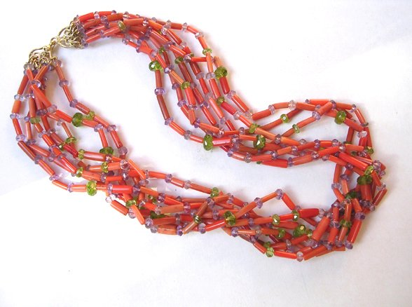 9052: 7 strings NECKLACE by Meira Maisler