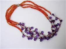 9055: 3 strings NECKLACE by Meiral Maisler