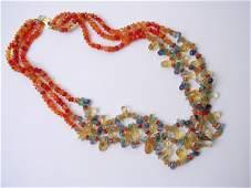 9081: Semi precious gems Necklace by Meira Maisler
