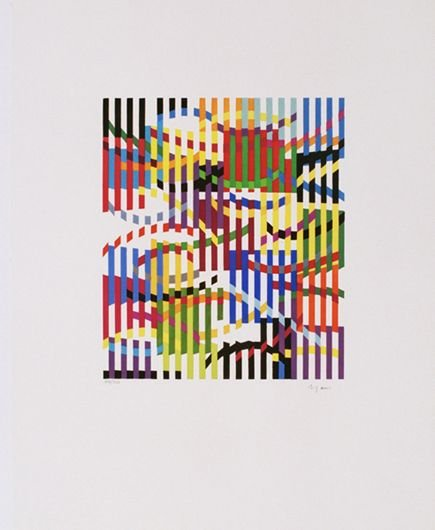 1001: Y. Agam Original Signed and No. SILKSCRN Kinetic