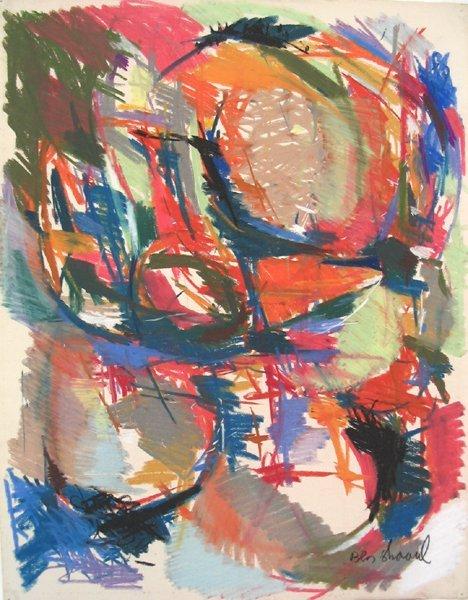 1010:David Ben-Shaul Original Pastel Drawing