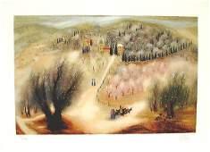 1088: Reuven Rubin Original Signed and No. Lithograph