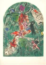 1100: Marc Chagall Signed and No. Lithograph Tribes