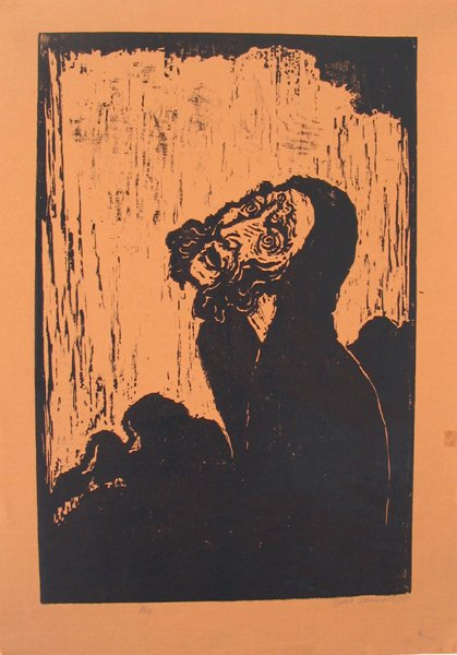 2001: Jacob Steinhardt Original Signed Woodcut Jewish