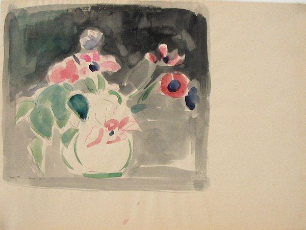 2010: Fima Original Watercolor Drawing Israeli/Chinese