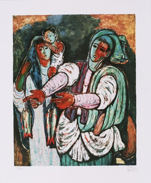 2012: Reuven Rubin Original Signed and No. Lithograph