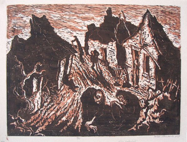 J.Steinhardt Original Signed Woodcut Jewish Art