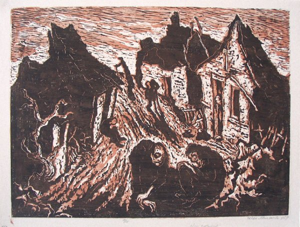 2014: J.Steinhardt Original Signed Woodcut Jewish Art