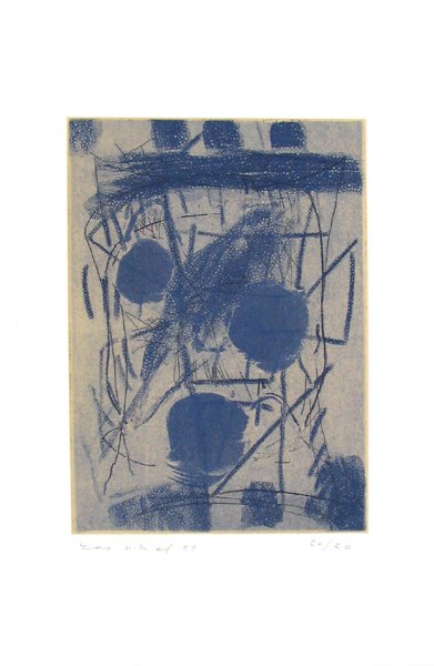 2019: Lea Nikel Original Signed and No. Etching Israeli