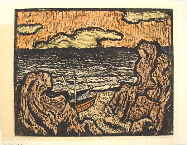 2022: Jacob Steinhardt Original Signed Woodcut Jewish A