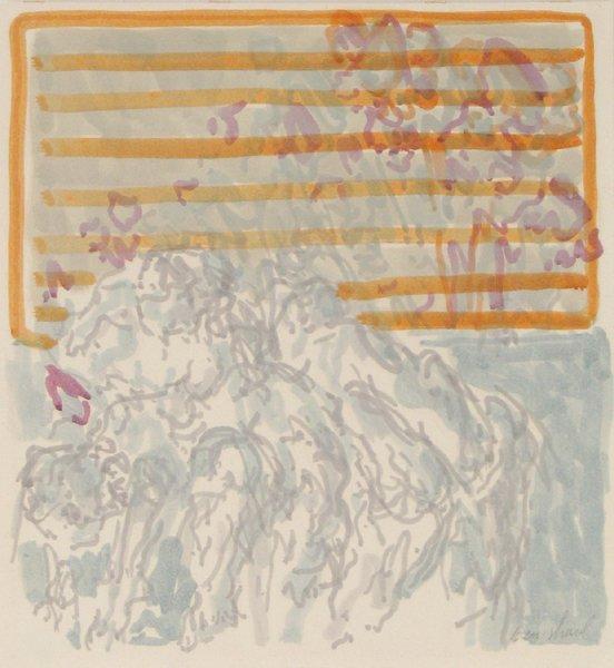 2024: David Ben-Shaul Original Gouache Painting