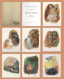 2074: Reuven Rubin Original 12 Lithogrpahs Portfolio