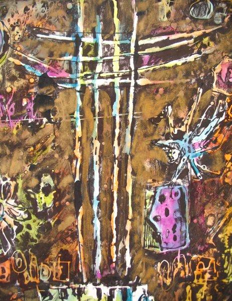 2103: Moshe Tamir Original Ink Painting Israeli Art - 3