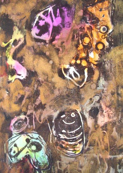 2103: Moshe Tamir Original Ink Painting Israeli Art - 4