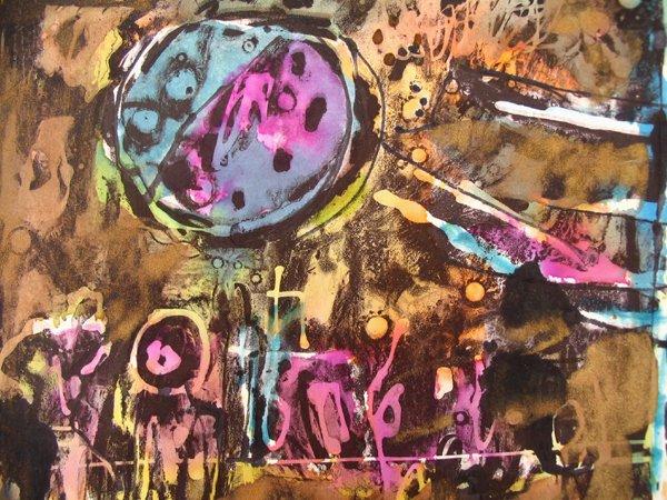 2103: Moshe Tamir Original Ink Painting Israeli Art - 6