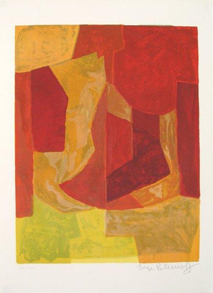3003: Serge Poliakoff Original Signed No. Lithograph